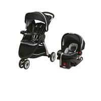 Diapers.com Baby Sale + 25% off Coupon: Graco Fast Action Stroller Travel System w/ SnugRide Infant Car Seat from  $120 + Free Shipping (New Customers Only)