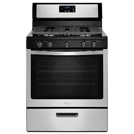 Whirlpool 5.1 cu. ft. Gas Range Oven w/ Griddle (Stainless Steel)  $375 + Free Store Pickup