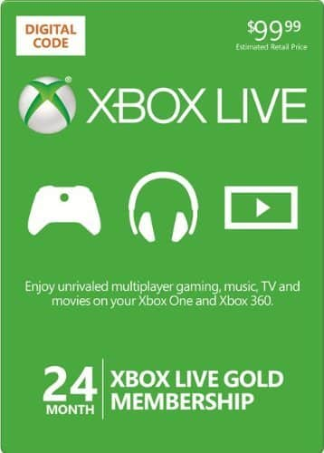 24-Month Xbox Live Gold Membership (Digital Delivery)  $70 + Free Shipping