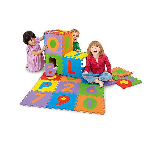 "36-Piece 12""x12"" Imaginarium Alphabet & Numbers Foam Puzzle Mat Tiles $15 + Free In-Store Pickup"