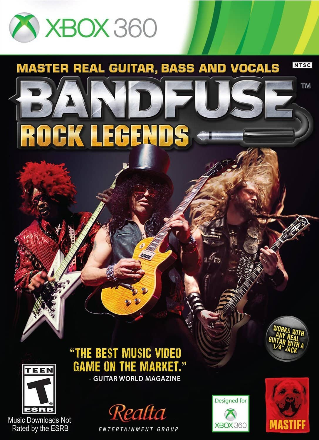 "BandFuse: Rock Legends Artist Pack w/ 1/4"" Guitar Cable (PS3 or Xbox 360) $9.99 + Free In-Store Pickup Only"
