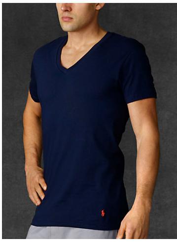 3-Pack Polo Ralph Lauren Men's Classic V-Neck T-Shirts (Green, Blue & Navy)  $13.80 + Free Shipping