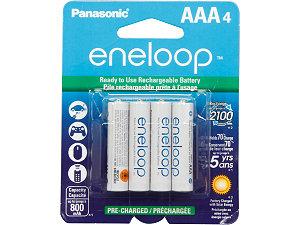 Panasonic BK-4MCCA4BA 4-pack AAA eneloop Rechargeable Batteries $9 @Newegg