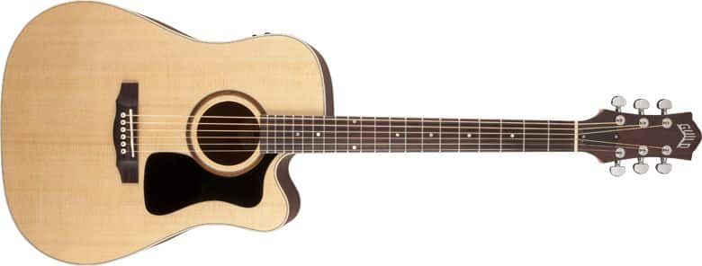 Guild AD3-CE Acoustic Electric Guitar Fishman Preamp & Arch Back Design $480 w/case Shipped