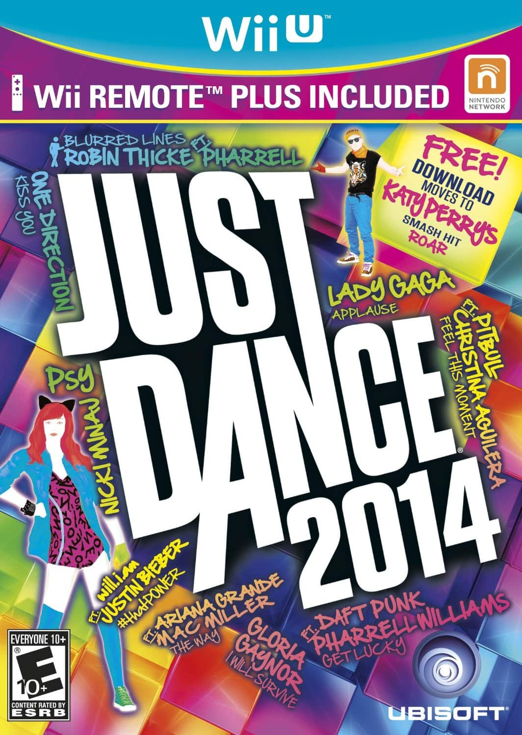 Just Dance 2014 Game (Nintendo Wii U) Bundle with Wii Remote Plus Controller for $29.99