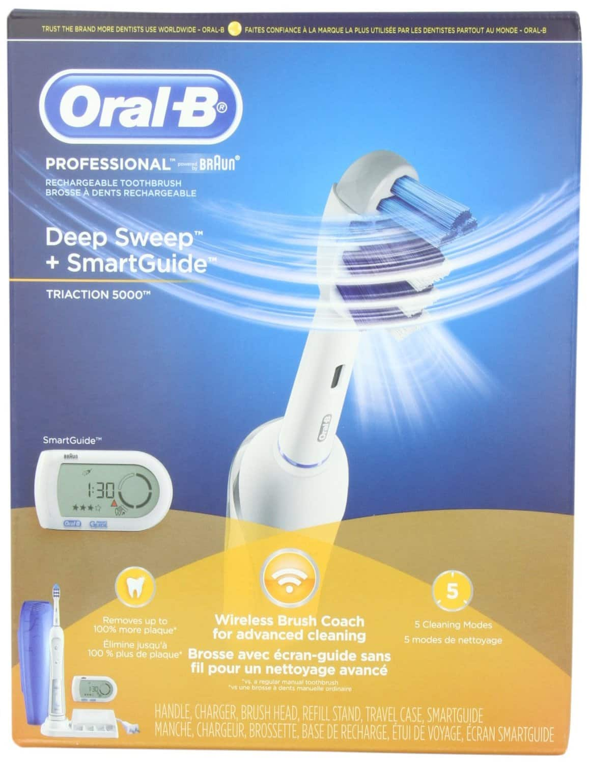 Oral-B Professional Deep Sweep with Smart Guide Triaction 5000 $79+Free Shipping