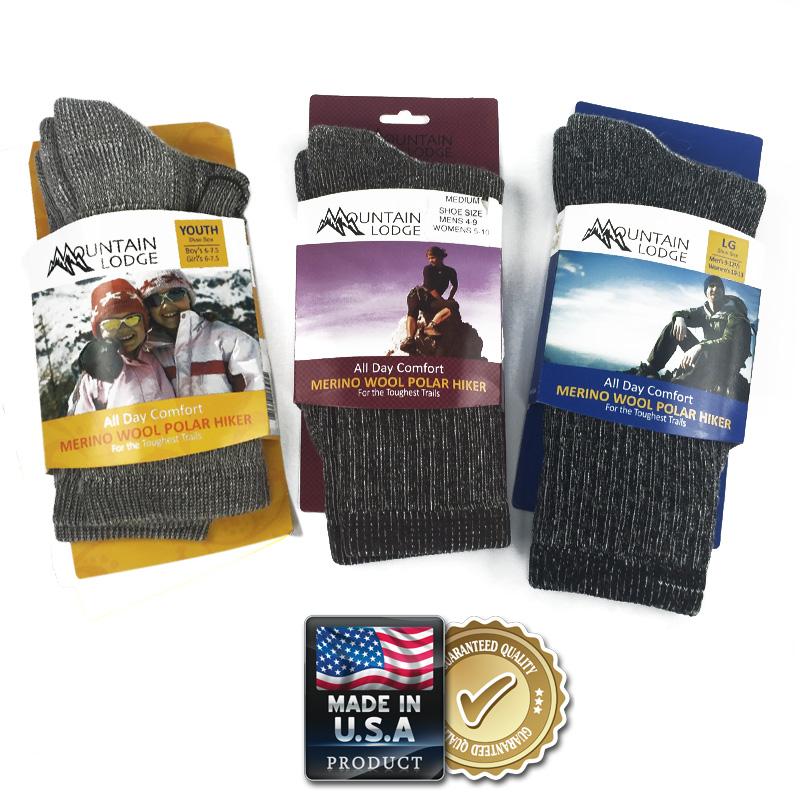 2-Pairs of Mountain Lodge Merino Wool Socks  $8 + Free Shipping