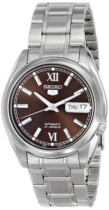 """Seiko Men's SNKL53 """"Seiko 5"""" Brown Dial Stainless Steel Automatic Watch $48.69 OR Seiko Men's SNKK25 """"Seiko 5"""" White Dial Stainless Steel Automatic Watch $48.69 Shipped"""