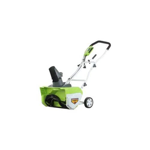 """GreenWorks 12-Amp 20"""" Corded Snow Thrower + $19.50 Rakuten Cash $130 with free shipping *#1 Best Seller on Amazon*"""