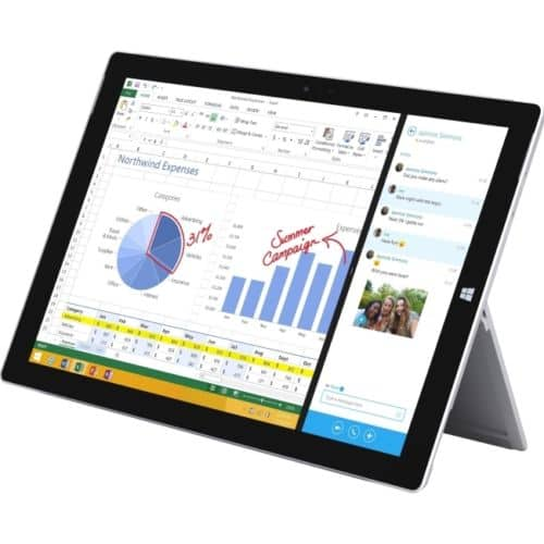 """128GB Microsoft Surface Pro 3 12"""" WiFi Tablet  $800 + Free Shipping"""