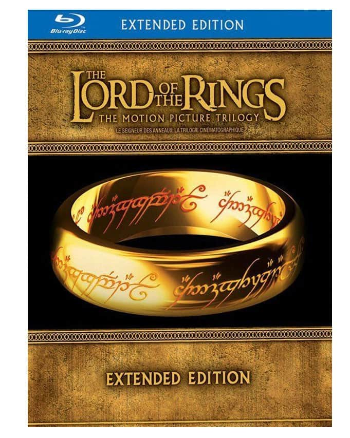 The Lord of the Rings: The Motion Picture Trilogy Extended Edition (Blu-ray)  $34.99 with free shipping