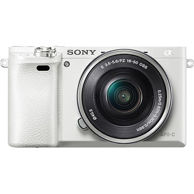 Sony Alpha a6000 White with 16-50mm Power Zoom Lens - Refurbished w/ 1 Year Warranty $439 + Free Shipping!