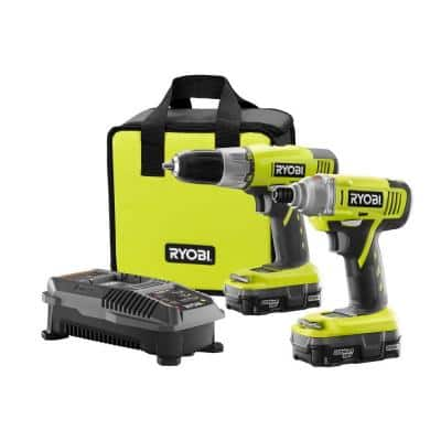 Ryobi P882 18-Volt ONE+ Lithium-Ion Drill/Driver and Impact Driver Kit (2-Tool) for $99 with free shipping