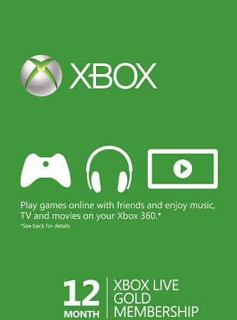 12 Month Xbox Live Gold Membership - $32.99 Digital