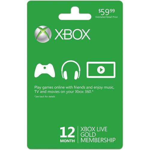 12-Month Microsoft Xbox Live Gold Membership (Email Delivery)  $31