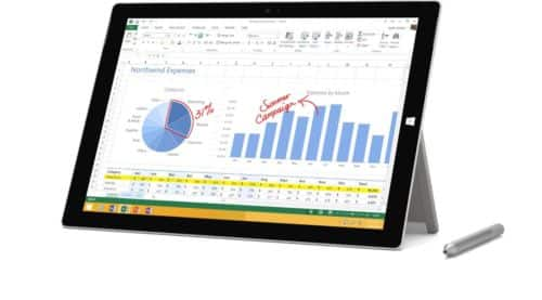 "128GB Microsoft Surface Pro 3 12"" Intel Core i5 WiFi Tablet $780 + Free Shipping"