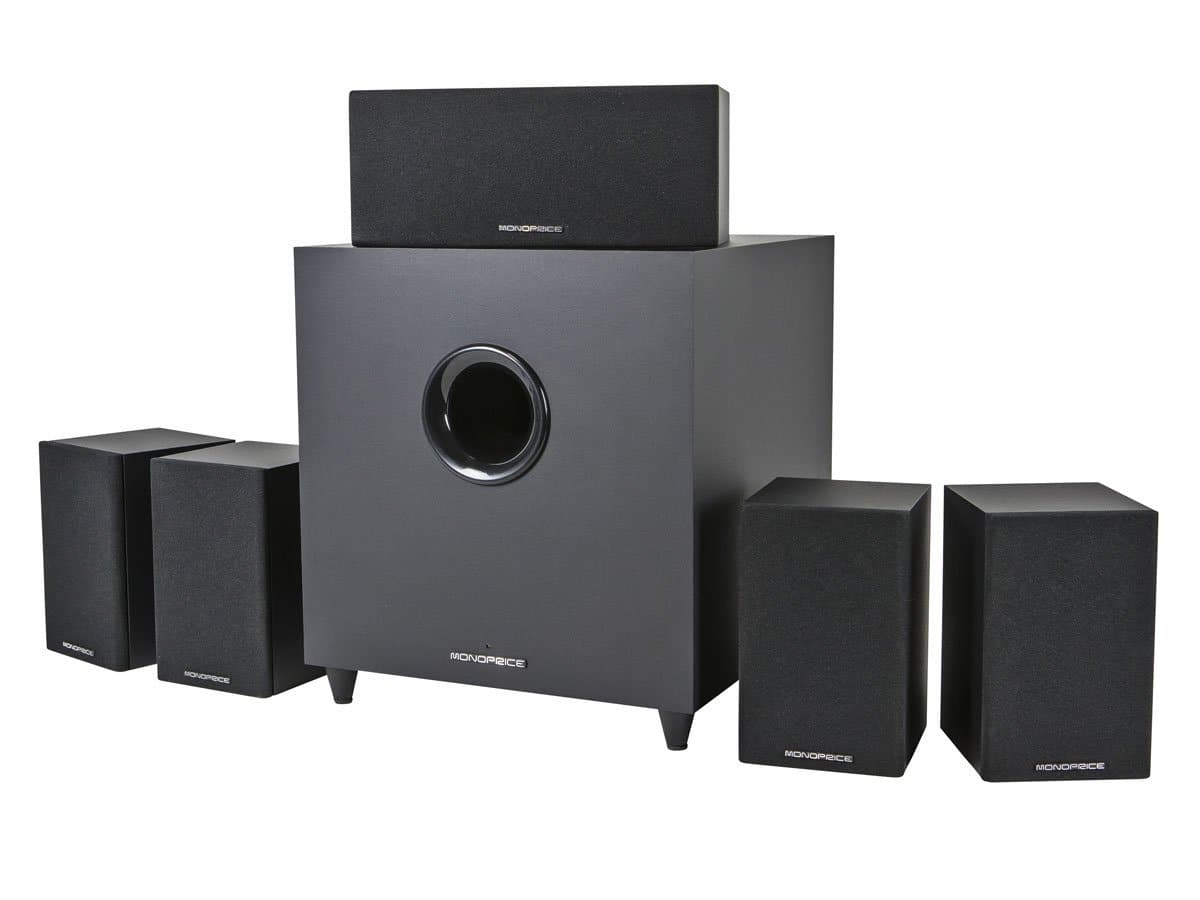 Monoprice Premium 5.1 Home Theater System w/ Subwoofer  $165.60 + Free Shipping
