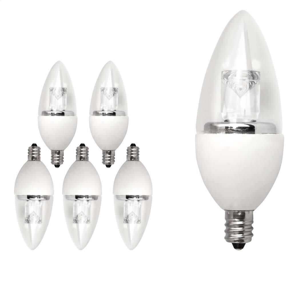 6-Pack TCP 5000K LED Light Bulbs (25W Equivalent, Candelabra Base)  $21 + Free Store Pickup
