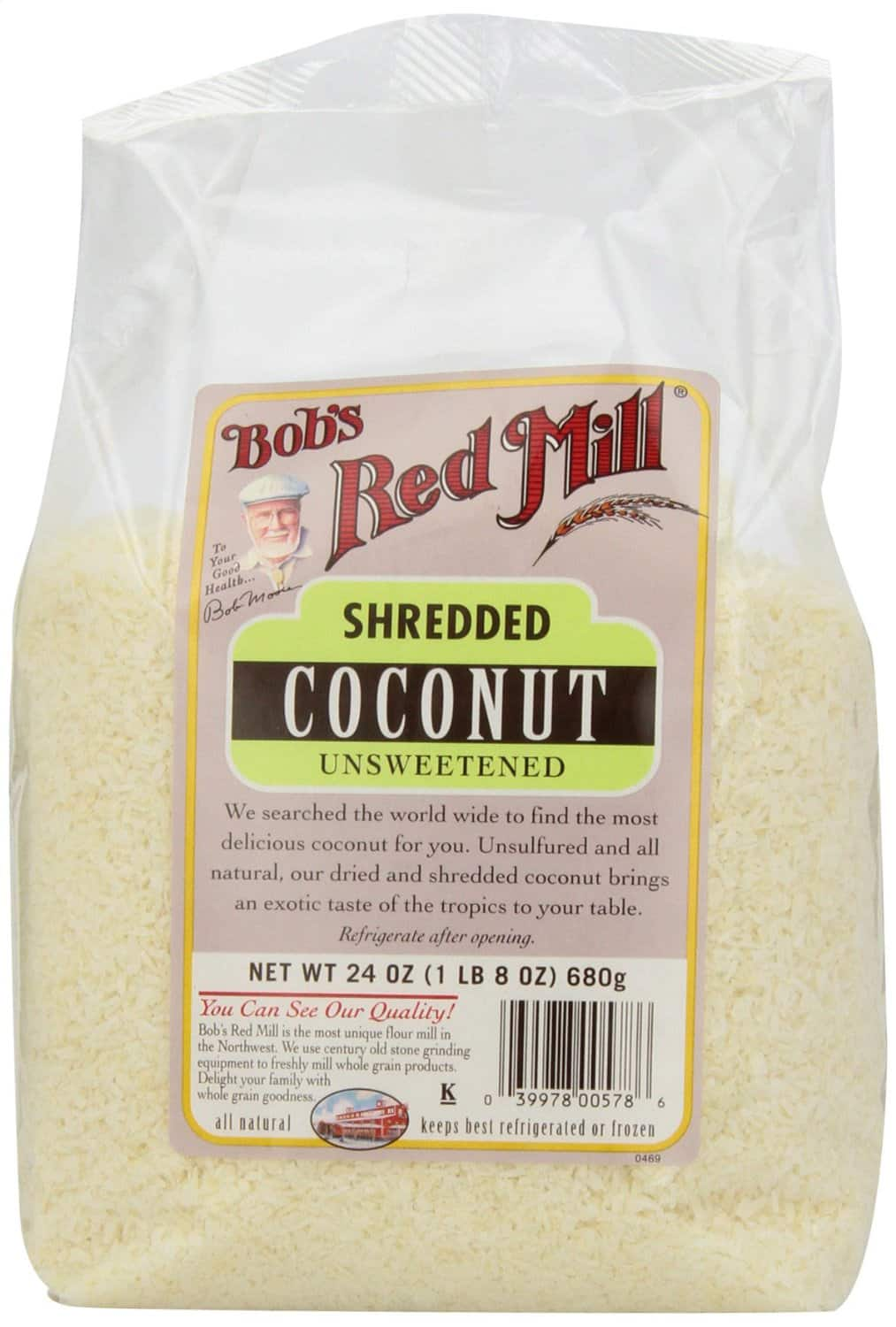 Bob's Red Mill Unsweetened Medium Shredded Coconut, 24-Ounce Packages (Pack of 4) as low as $14.61 or less (Amazon)