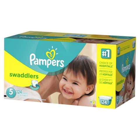 Pampers Swaddlers Diapers Economy Plus Pack  $32 & More + Free S&H
