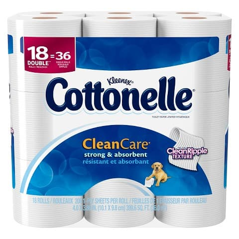 36-Count Cottonelle Clean Care Double Roll Toilet Paper + $5 Target GC  $10 + Free Shipping