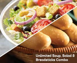 Unlimited Soup, Salad and Breadsticks for $5.99 with Coupon @ Olive Garden - Valid 10/19/15 to 10/23/15