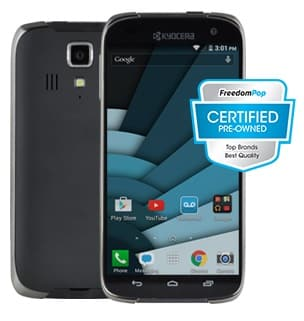 FreedomPop: Kyocera Hydro Icon Waterproof Smartphone (Pre-Owned)  $35 w/ FreedomPop Trial + Free S/H