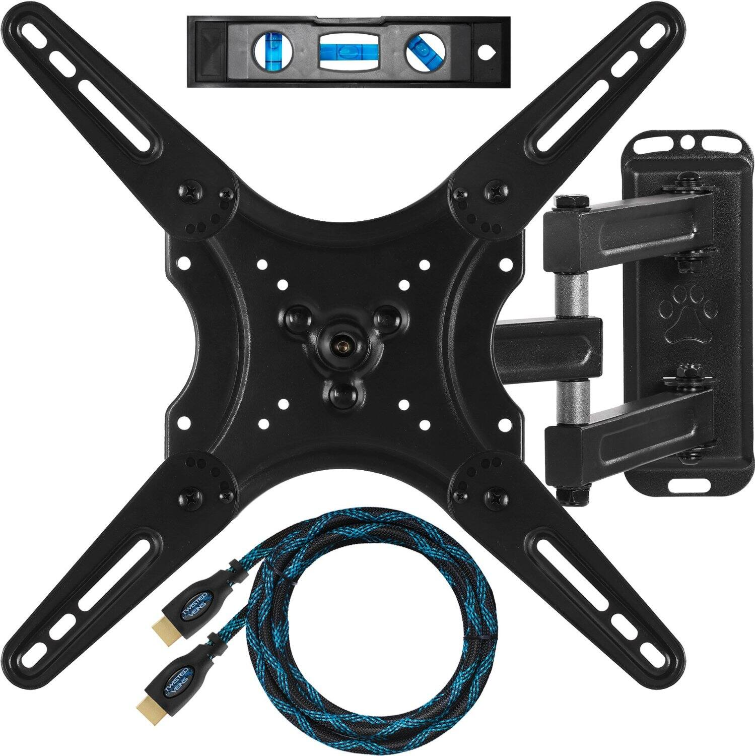 """Cheetah Articulated Wall Mount for 23""""-49"""" HDTVs + 10' HDMI Cable + 6"""" Bubble Level $13.48 Shipped w/ Prime Amazon.com"""
