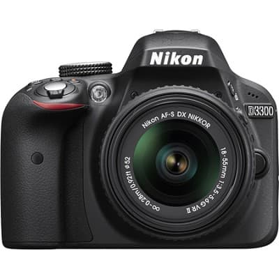 Nikon D3300 24.2 MP Digital SLR with 18-55mm VR II Lens (Black) - Factory Refurbished $315 AC + Free Shipping!