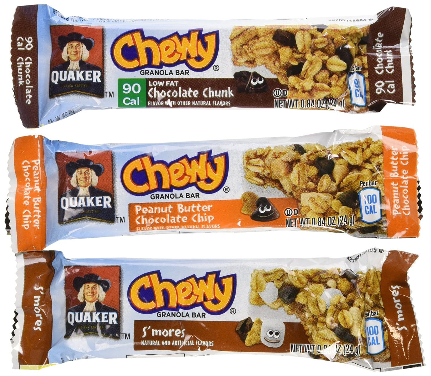 18-Pack Quaker Chewy Granola Bars (Variety Pack) $3.56. Free shipping. Amazon - S&S