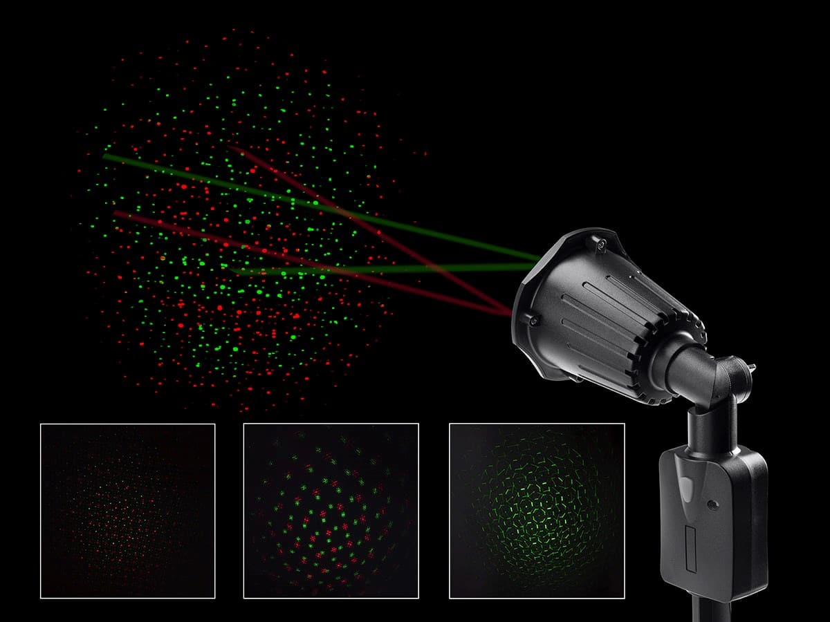 Prime Holiday Laser Light Projector w/ Red & Green Laser Effect  $48 + Free Shipping