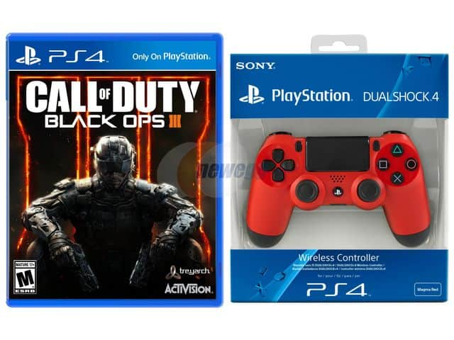DualShock 4 Wireless PS4 Controller + COD: Black Ops III + Fallout 4  $130 + Free Shipping