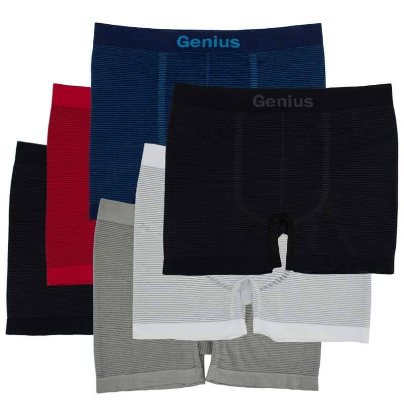 6-Pairs of Men's Seamless Compression Fit Athletic Boxer Briefs $9 with free shipping
