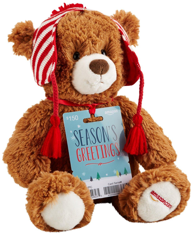 $150 Amazon Gift Card + Limited Edition Gund Teddy Bear