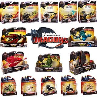 How To Train Your Dragon Action Mini Figures (Toothless, Bewilderbeast, Cloud Jumper or Skull Crusher) $3.99 + Free Shipping