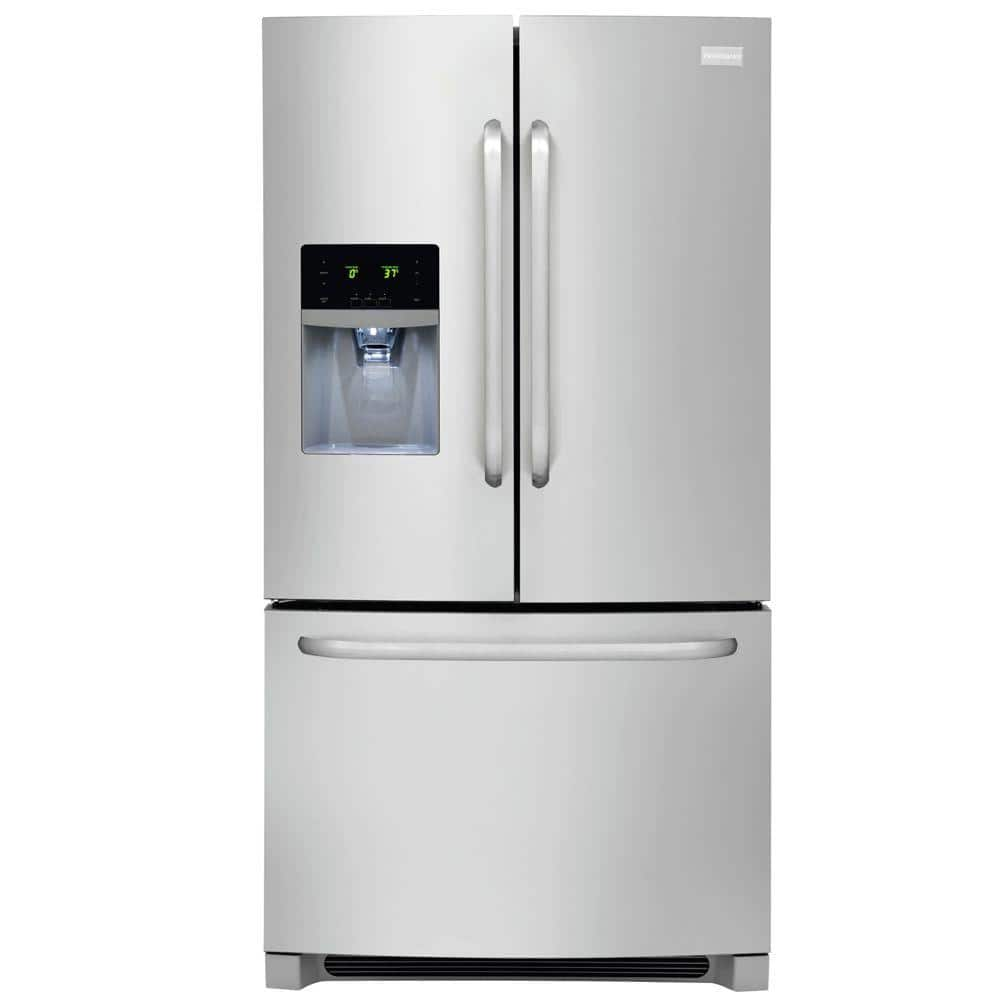 Frigidaire 27.19 cu. ft. French Door Refrigerator $490 at home depot  price shown in cart