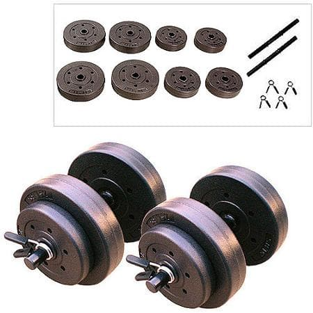 40-Pound Gold's Gym Vinyl Cement Dumbbell Set + Weightlifting Gloves  $14 + Free Store Pickup