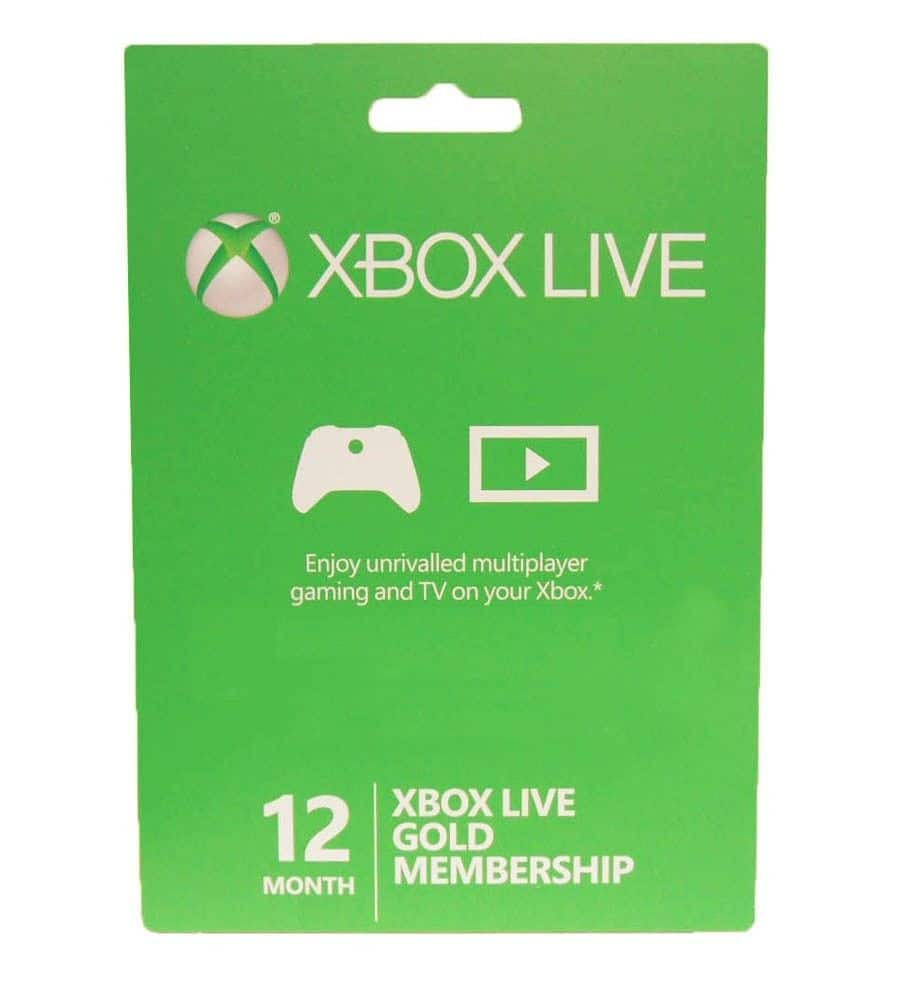 12-Month Xbox Live Gold Membership Card  $38 + Free S/H