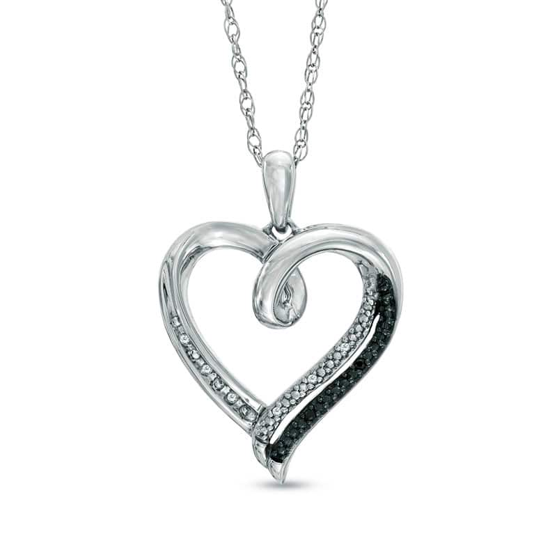 Zales Sale: Diamond Accent Heart Pendant in Sterling Silver  $24 & More + Free Store Pickup