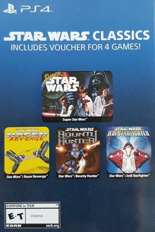 PS4 Download - Star Wars 4 Classic Game Pack + 20% PSN Discount Code - $14.49 with Email Delivery