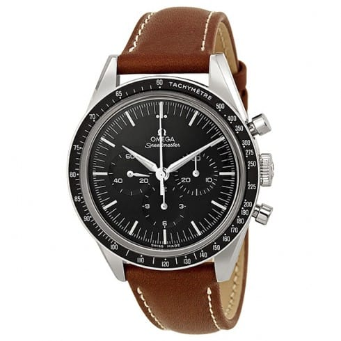 Omega Speedmaster Automatic Chronograph Moonwatch w/  Brown Leather Strap (50th Anniversary Limited Edition) $3295 + free shipping