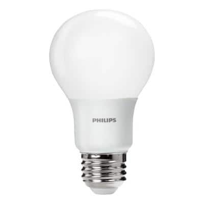 Philips 4 Pack 60W Equivalent Daylight A19 LED Light Bulb 5000K 800 Lumens - $10.97 + Free store pickup