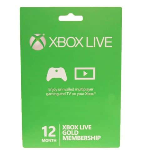 12-Month Xbox Live Gold Membership Card  $40 + Free Shipping
