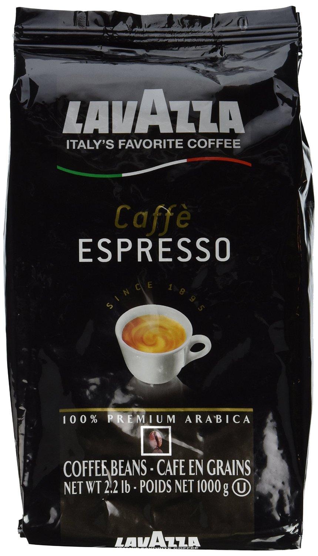 2.2lbs Lavazza Caffe Espresso 100% Premium Arabic Whole Bean Coffee $9.74 + free shipping w/prime