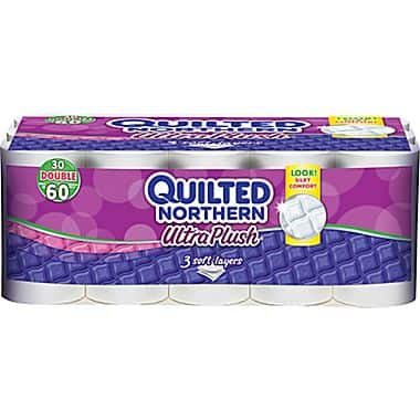 30-Pack Quilted Northern Ultra Plush Double 3-Ply Rolls Bath Tissue  $10 + Free Ship-to-Store