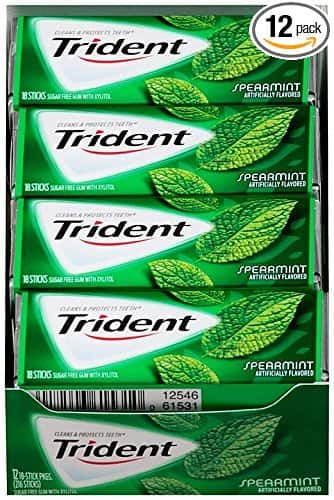 12-Pack of 18-Count Trident Sugar Free Gum (Spearmint)  $6.40 + Free Shipping
