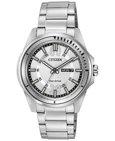 Citizen Eco-Drive Watch AW0031-52A $135 - 25% - $25 SlickDeals Rebate = $76.25 at macys.com