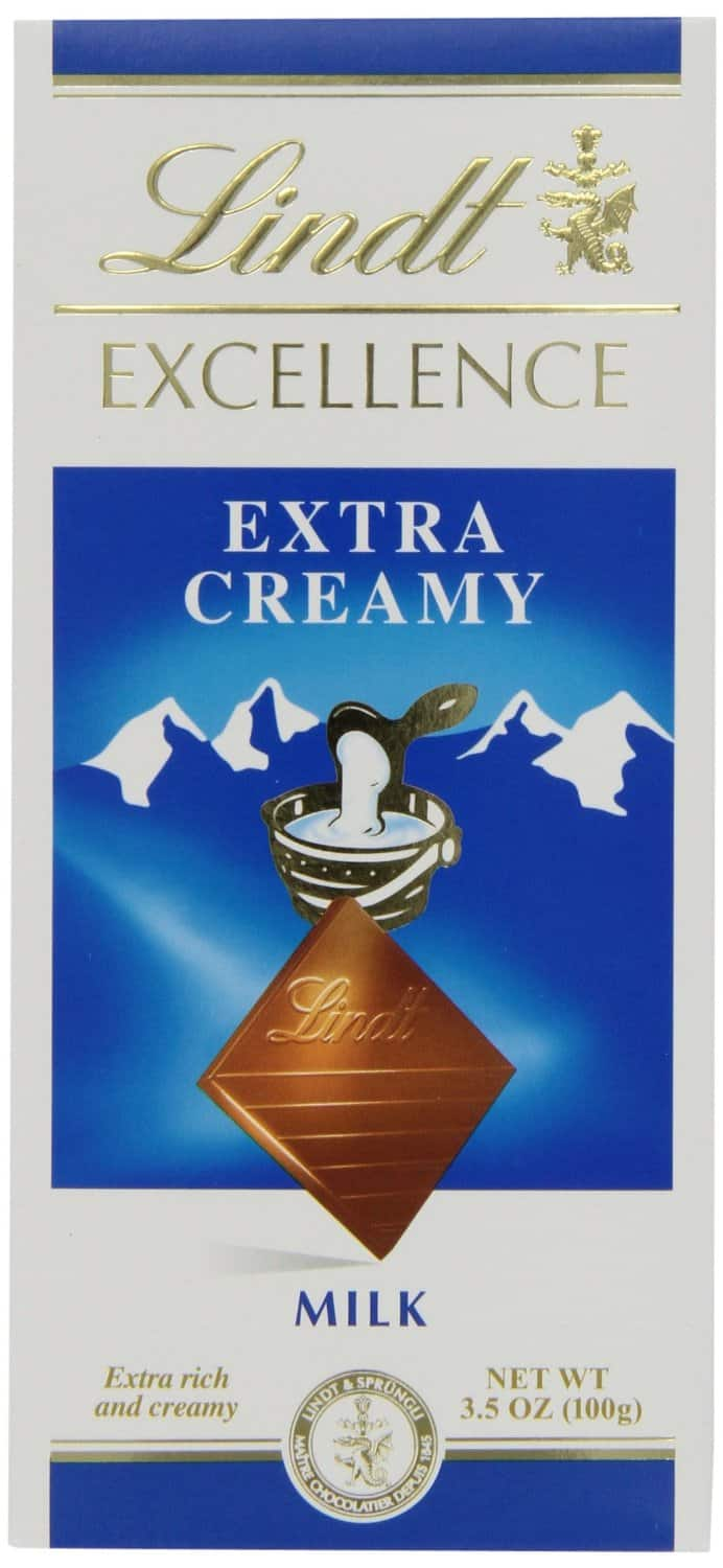 12-Pack of 3.5oz. Lindt Excellence Extra Creamy Milk Chocolate Bars  $16.15 & More + Free S&H