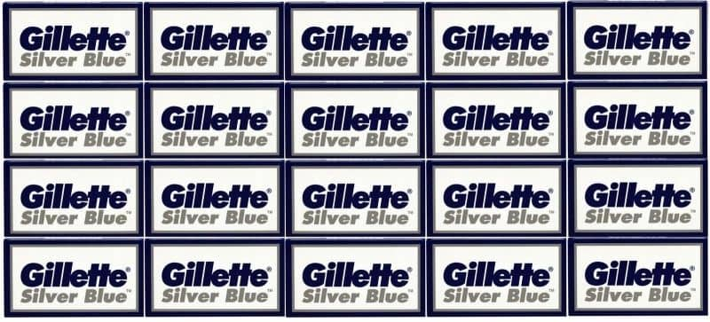 100-Pack Gillette Silver Blue Double Edge Razor Blades  $14 + Free Shipping