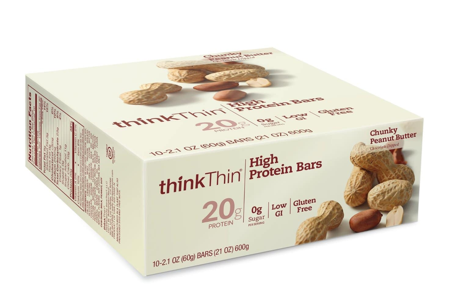 Add-On: 10-Pack 2.1oz. ThinkThin High Protein Bars (Peanut Butter)  $3 + Free Shipping Orders $25+